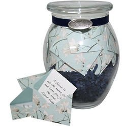 Jar of Sympathy Notes in Flower Blossom Envelopes