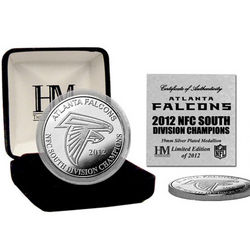 Atlanta Falcons 2012 NFC South Division Champions Silver Coin