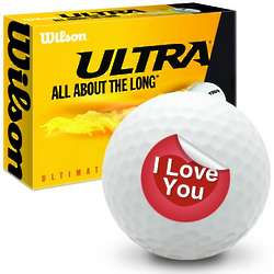 I Love You Ultimate Distance Golf Balls