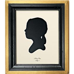 Custom Bellagi Silhouette Framed Portrait