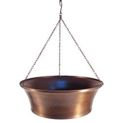 Aged Copper Look Hanging Planter