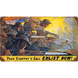 Your Country's Call Metal Sign