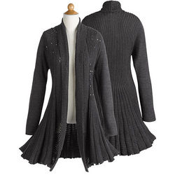 Shimmering Twilight Sweater Coat