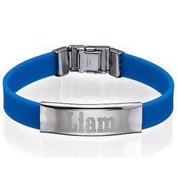 Men's Personalized Metal Buckle Rubber Bracelet