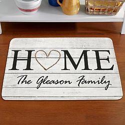 Personalized Rustic Home Doormat
