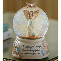 'in Loving Memory' Angel Snow Globe