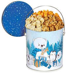 Let It Snow 1 Gallon Holiday Popcorn Tin People's Choice Mix