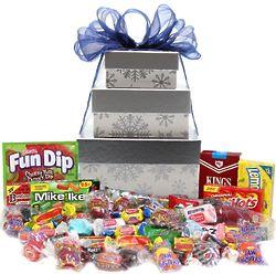 Nostalgic Candy Snowflake Gift Tower