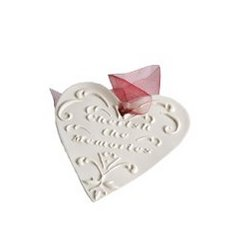 Cherish The Memories Porcelain Heart Ornament