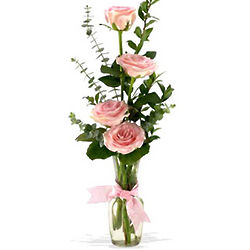 Rose Quartet Bud Vase