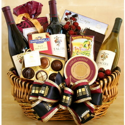 Three's a Crowd Wine Gift Basket