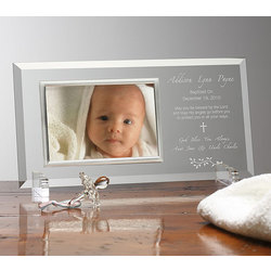 Christening Day Personalized Glass Frame
