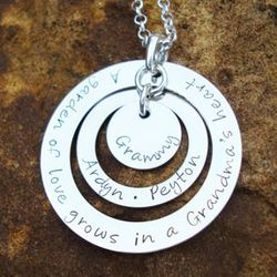 Grandma's Garden Hand Stamped Sterling Silver Necklace