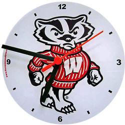 Bucky Badger Wall Clock