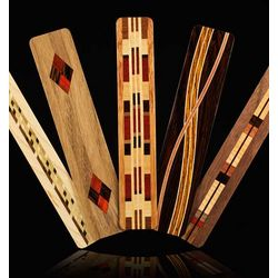 Wood Bookmarks with Intricate Inlaid Patterns