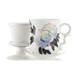 Blue Peony Infuser Tea Mug