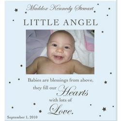 Little Angel Blue Photo Frame