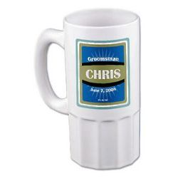 Best Man or Groomsman Beer Mug