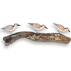 Sandpipers on Driftwood Wall Sculpture