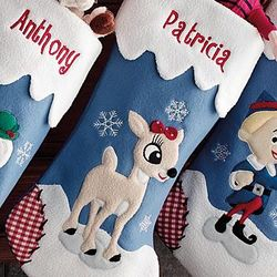 Personalized Clarice Rudolph Christmas Stocking