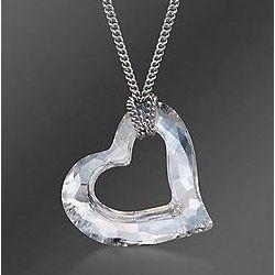 Swarovski Crystal Open Heart Pendant Necklace