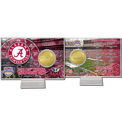 Alabama 2013 BCS National Championship Game Bronze Coin Card