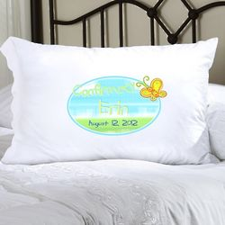 Personalized Sunshine and Butterfly Confirmed Pillow Case