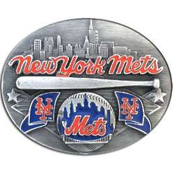New York Mets MLB Pewter Belt Buckle