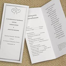 Platinum Hearts Tri-Fold Program Paper