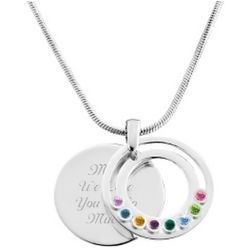 Family Circle Movable 8 Birthstone Pendant