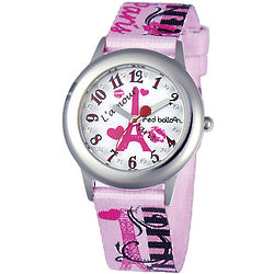 Red Balloon Pink Paris Personalized Watch