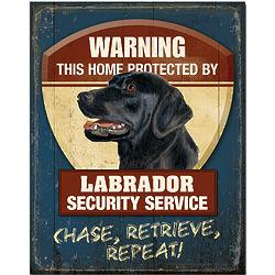 Black Lab Dog Breed Patrol Sign