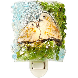 Recycled Glass Doves Night Light