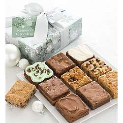 Elegant Holiday Brownie Sampler Gift Box