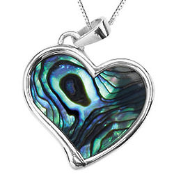 Sterling Silver Paula Shell Heart Pendant