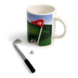 Eighteen Hole Golf Mug and Putter Pen