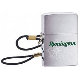 Remington Lossproof Brushed Chrome Zippo Lighter