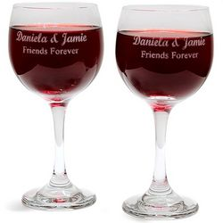 Personalized Wine Glasses Set