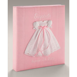 Silk Baby Photo Album - Swiss Batiste Baby Gown