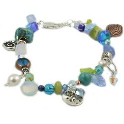 Fifty and Fabulous Blue Birthday Bracelet