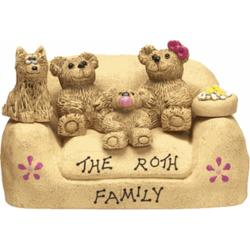Personalized Teddy Bear in Chair for New Parents