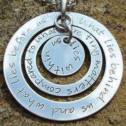 What Lies Within Us Hand Stamped Sterling Silver Necklace
