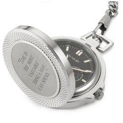 Stainless Steel/Titanium Pocket Watch