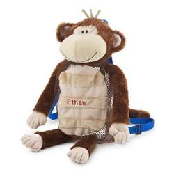 Personalized Monkey Backpack