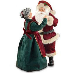 Thomas Kinkade Musical Santa and Mrs. Claus Figurine