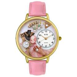Jewelry Lover Pink Watch with Miniatures