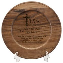 Faith and Love Personalized Anniversary Plate