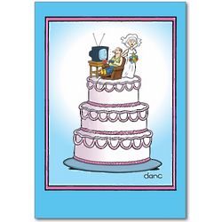 Reality Wedding Cake Topper Anniversary Card