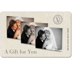 Personalized Gift Card for Wedding Photo Canvas