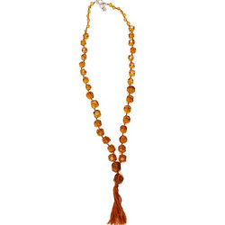 Lucky Brand Citrine Chunky Strand Necklace